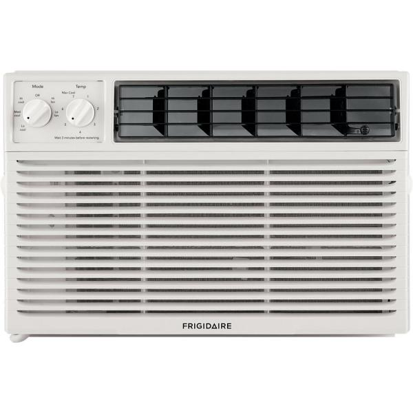 6,000 BTU Window–Mounted Air Conditioner with Mechanical Controls in White