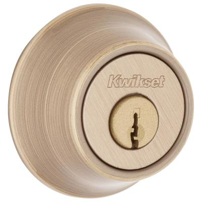 Polished Brass Single-Cylinder Deadbolt