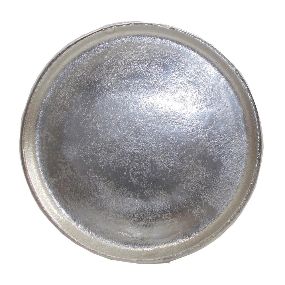 14 in. Vintage Nickel Walbrook Decorative Round Plate