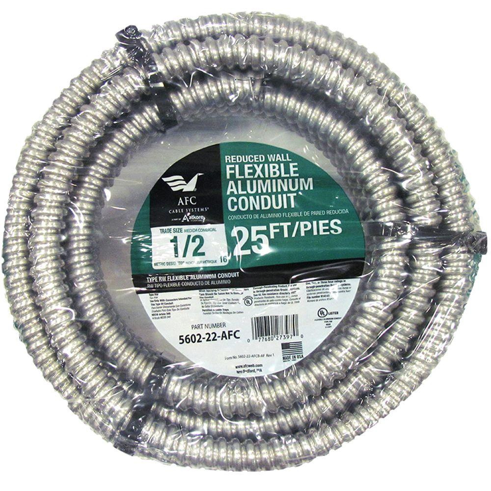 AFC Cable Systems Liquid Tight 3-1/2 x 25 ft. Flexible Steel Conduit ...