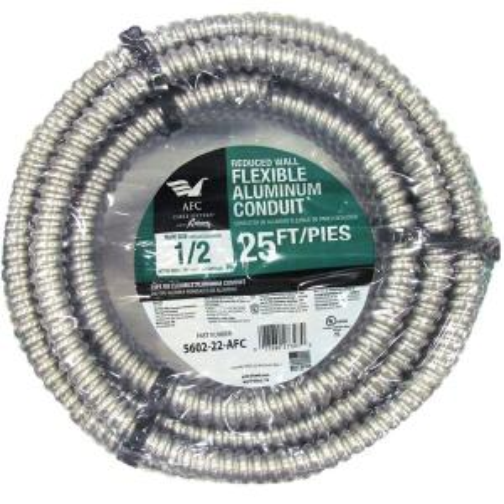 "3//8/"" X 50 Feet Greenfield Flexible Metal Conduit   Superflex"