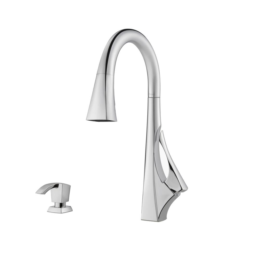 Venturi Single Handle Pull Down Sprayer Kitchen Faucet