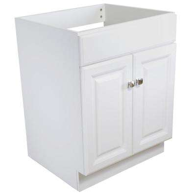 Wyndham 24 in. W x 21 in. D Unassembled Vanity Cabinet Only in White Semi-Gloss