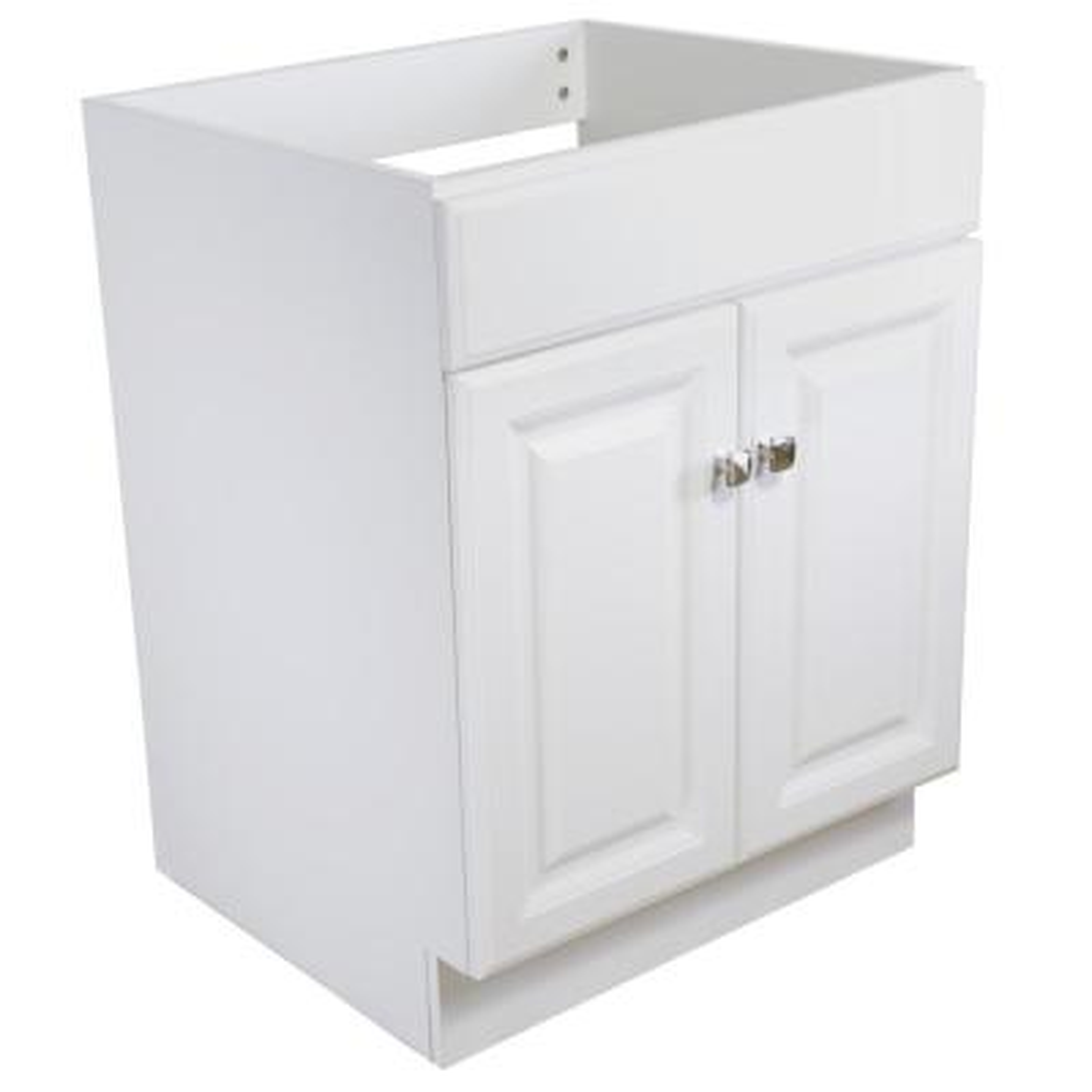 Wyndham 24 in. Unassembled 2-Door Bath Vanity Cabinet Only, White