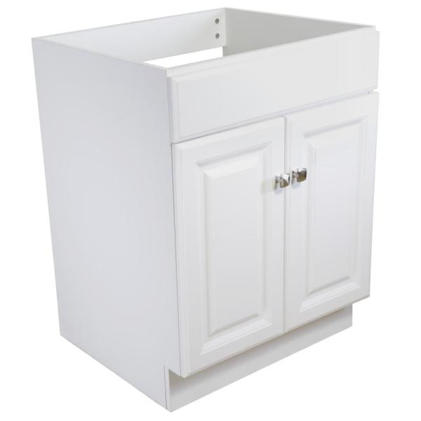 Wyndham 24 in. W x 21 in. D Vanity Cabinet Only in White Semi-Gloss