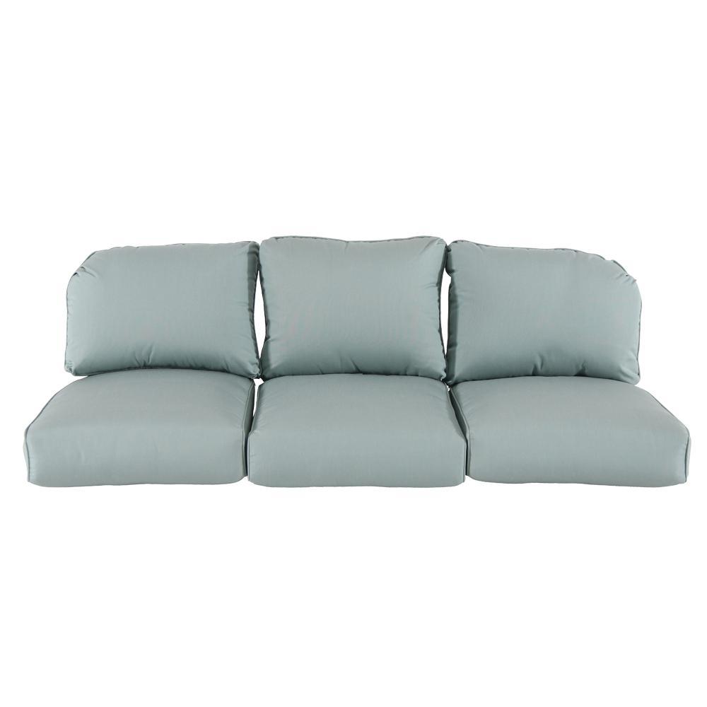 Home Decorators Collection Camden Sunbrella Canvas Spa Replacement Outdoor  Sofa Cushions