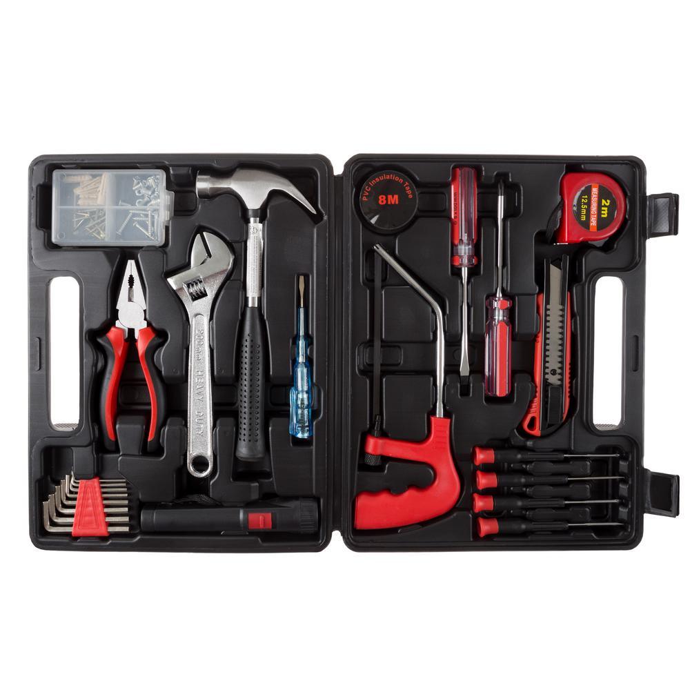 Multipurpose Car and Office Black Tool Kit (65-Piece)
