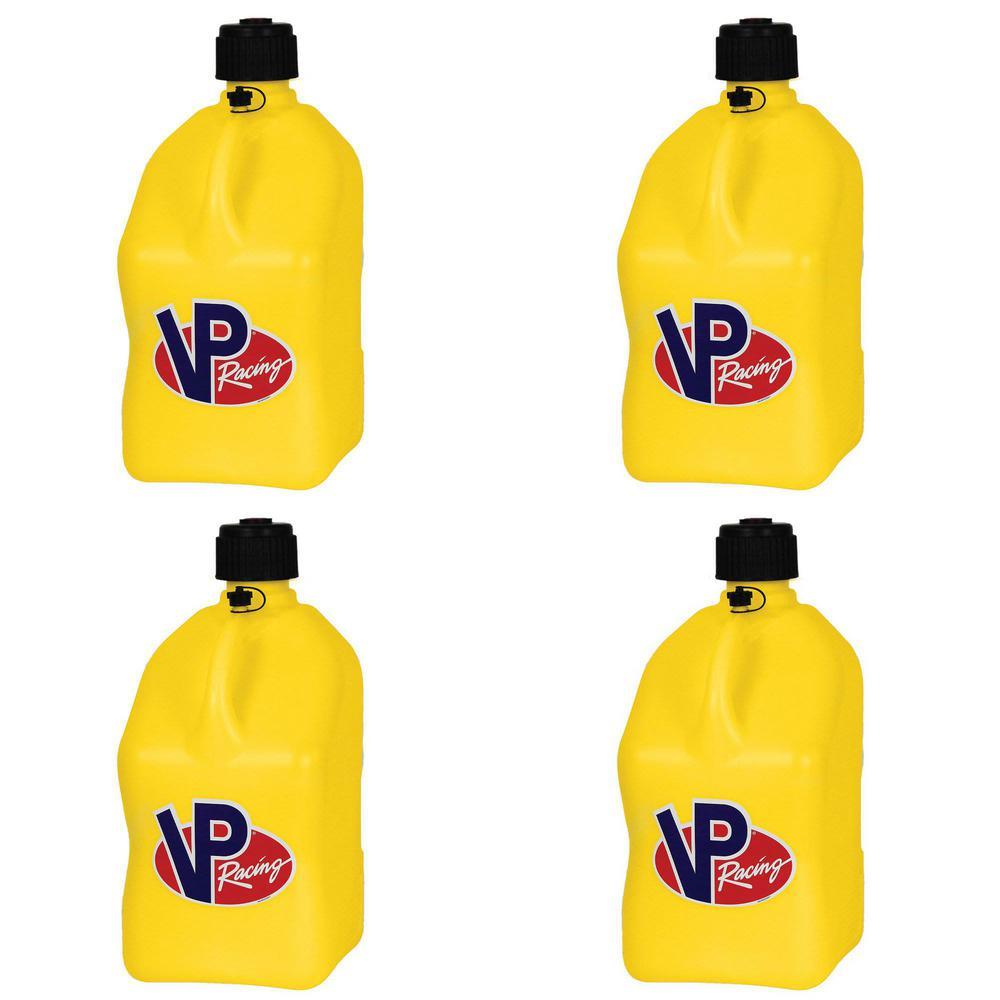 5 Gal. Motorsport Racing Liquid Utility Jug Can, Yellow (4-Pack)