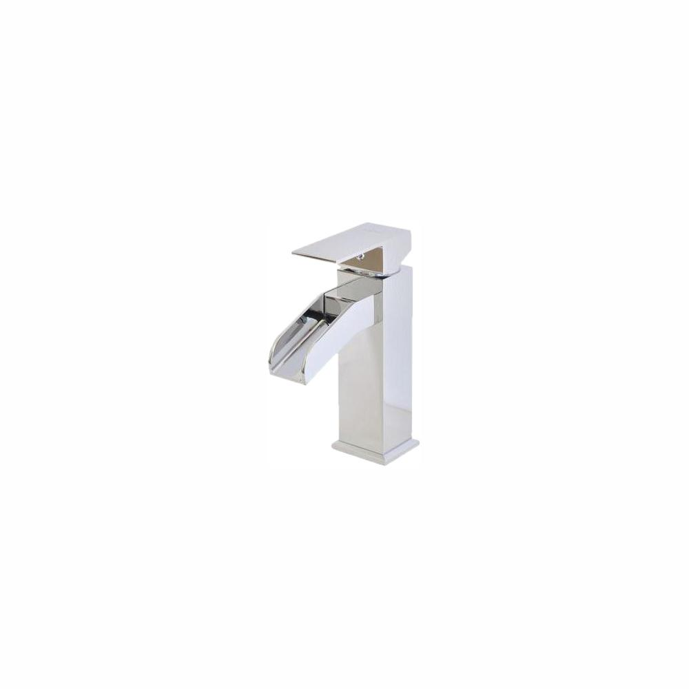 Belle Foret Single Hole 1-Handle Mid-Arc Bathroom Faucet in Chrome