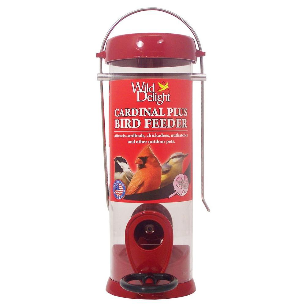 Droll Yankee 8 in. Wild Delight Metal Cardinal Bird Feede...