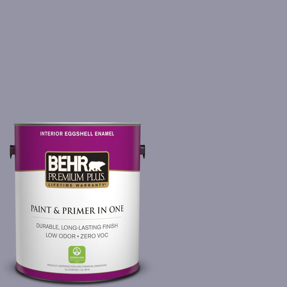 1-gal. #640F-5 Ash Violet Zero VOC Eggshell Enamel Interior Paint