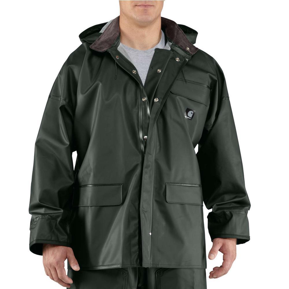 Carhartt Men's Large Green PVC/Polyester Surrey Coat