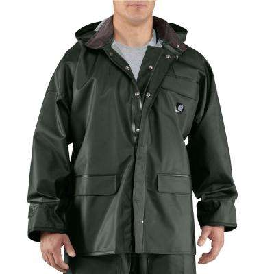 Men's Extra-Large Green PVC/Polyester Surrey Coat