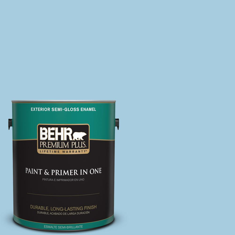 1-gal. #M490-2 Carefree Sky Semi-Gloss Enamel Exterior Paint