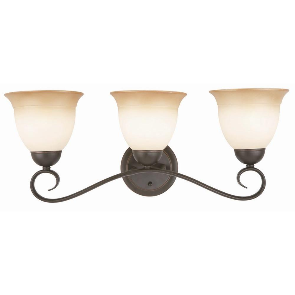 Good Design House Cameron 3 Light Oil Rubbed Bronze Bath Light Fixture