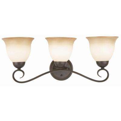 Cameron 3-Light Oil Rubbed Bronze Bath Light Fixture