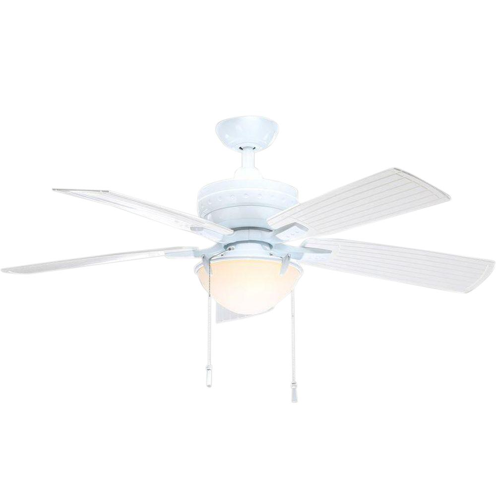 Hampton bay hawkins 44 in indoor white ceiling fan yg204 wh the indooroutdoor white ceiling fan with light kit mozeypictures Images