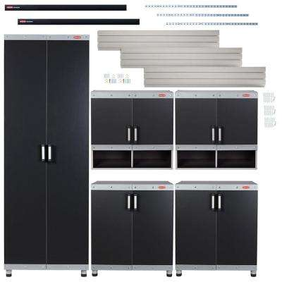 Fasttrack Garage Laminate 5 Piece Cabinet Set With Wall Panel