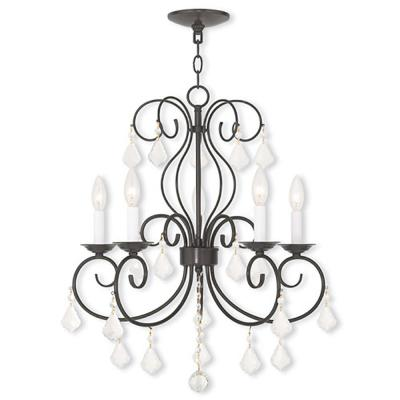Prescott 5-Light English Bronze Mini Chandelier