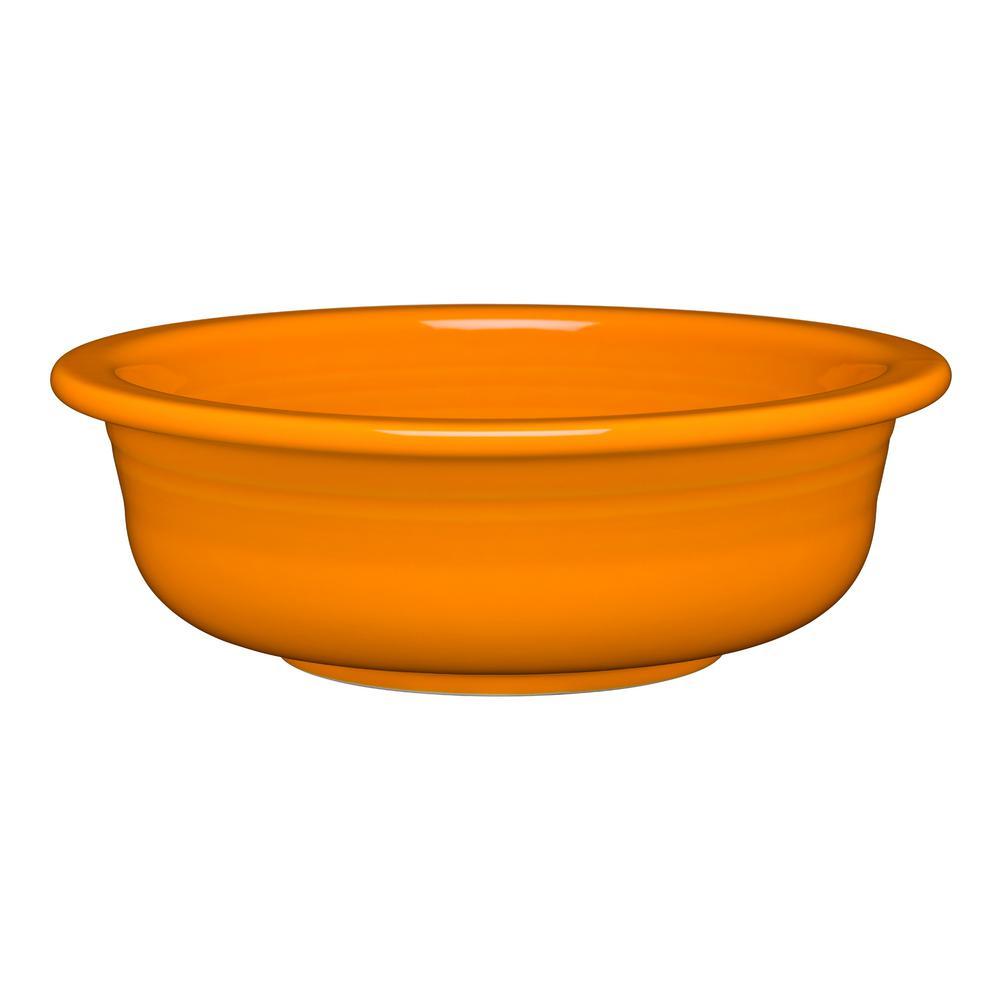 1 qt. 8.25 in. 41.oz. Butterscotch Ceramic Large Serving Bowl