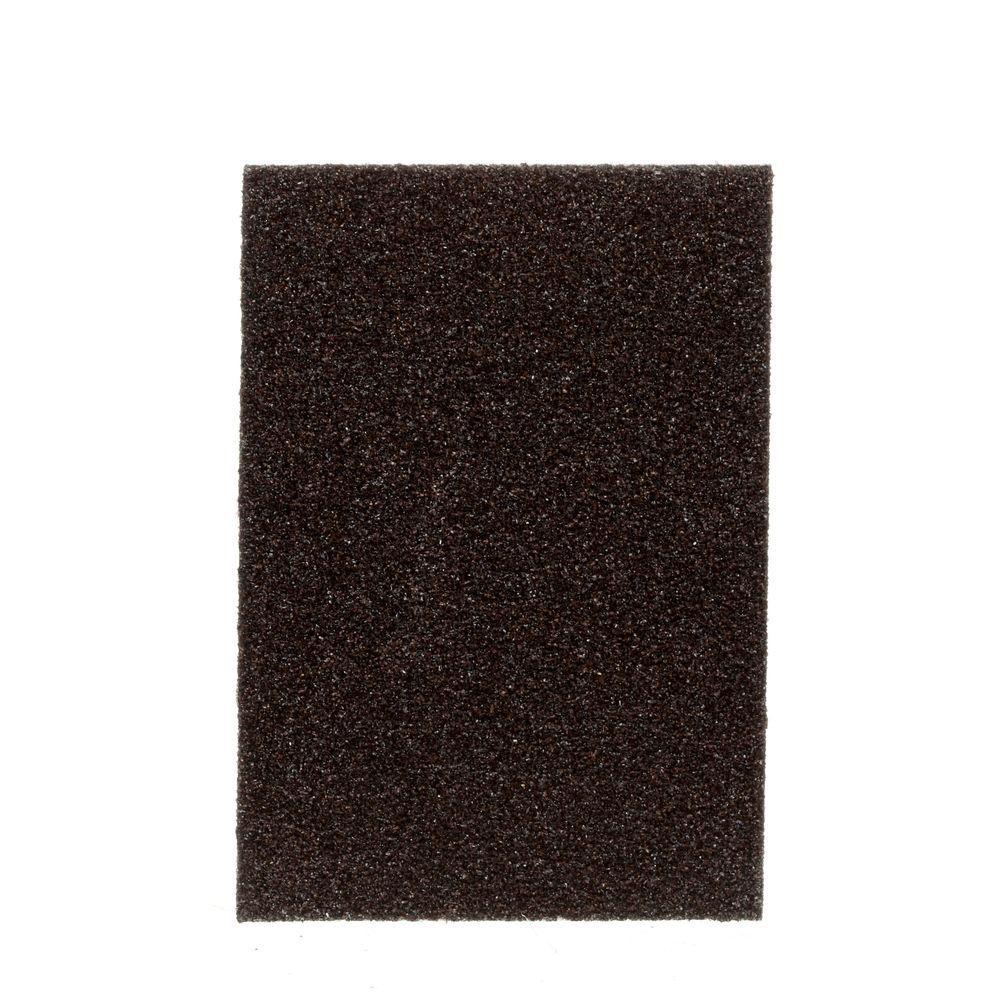3.75 in. x 2.625 in. x 1 in. 80 Grit Medium Sanding Sponges (6-Pack) (Case of 4)