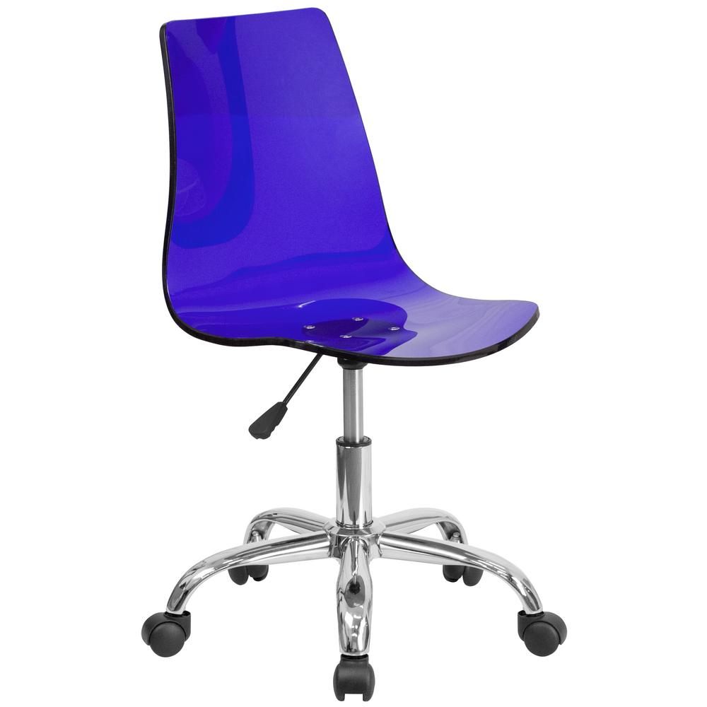 This Review Is From Contemporary Transpa Blue Acrylic Task Chair With Chrome Base
