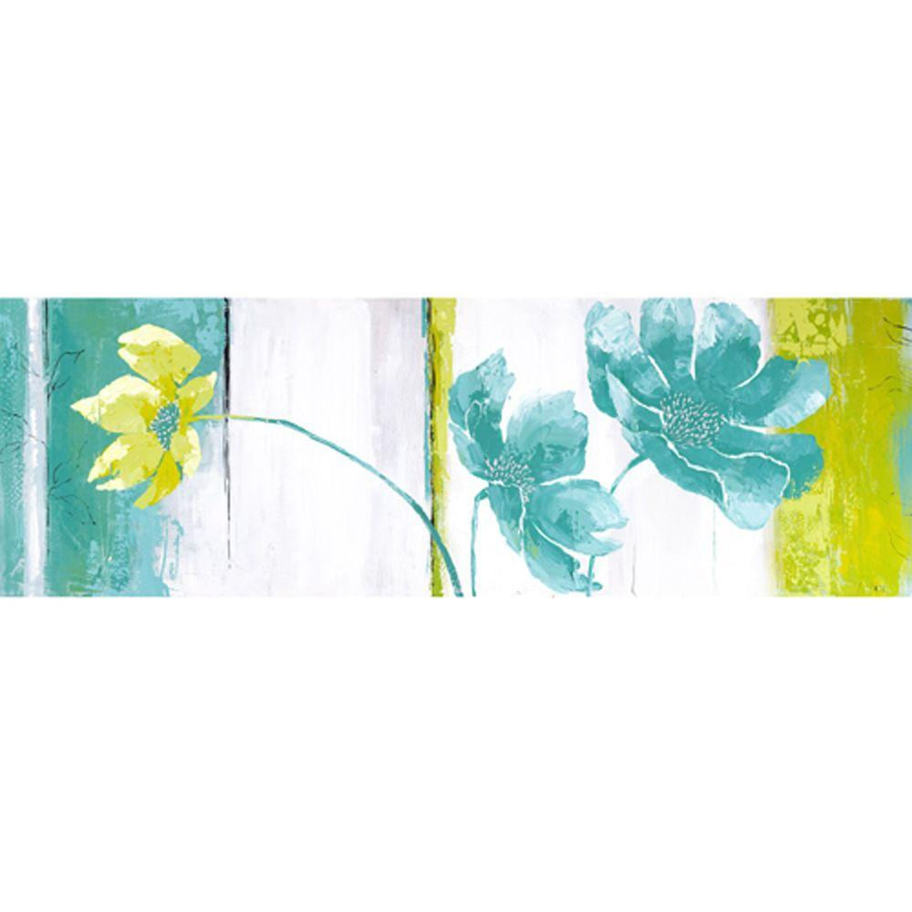 Yosemite Home Decor 59 in. x 20 in. Blues and Greens II Hand Painted Contemporary Artwork