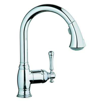 Bridgeford Single-Handle Pull-Out Sprayer Kitchen Faucet in StarLight Chrome