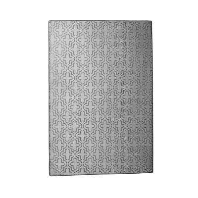Memory Foam Moroccan Grey 4 ft. x 6 ft. Area Rug