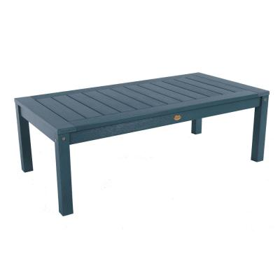 Adirondack Nantucket Blue Rectangular Plastic Outdoor Coffee Table