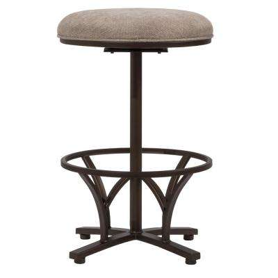 Keckley 26 in. Brown Swivel Commercial Grade Counter Stool