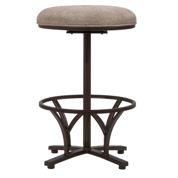 Hillsdale Furniture Keckley 26 in. Brown Swivel Commercial Grade Counter Stool