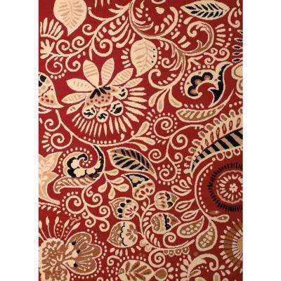 Dallas Bandanna Red 8 ft. x 11 ft. Indoor Area Rug