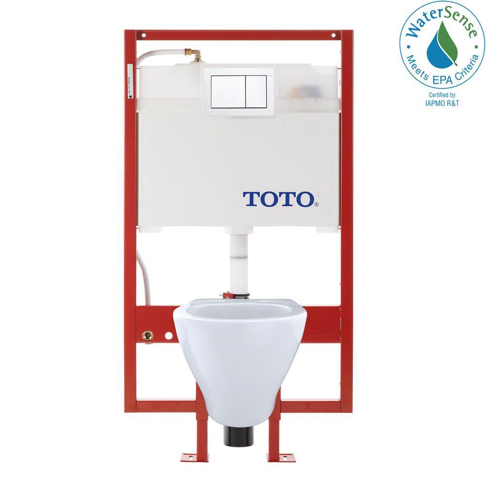Toto Aquia Duofit 0 9 1 6 Gpf Dual Flush Elongated Wall Mounted