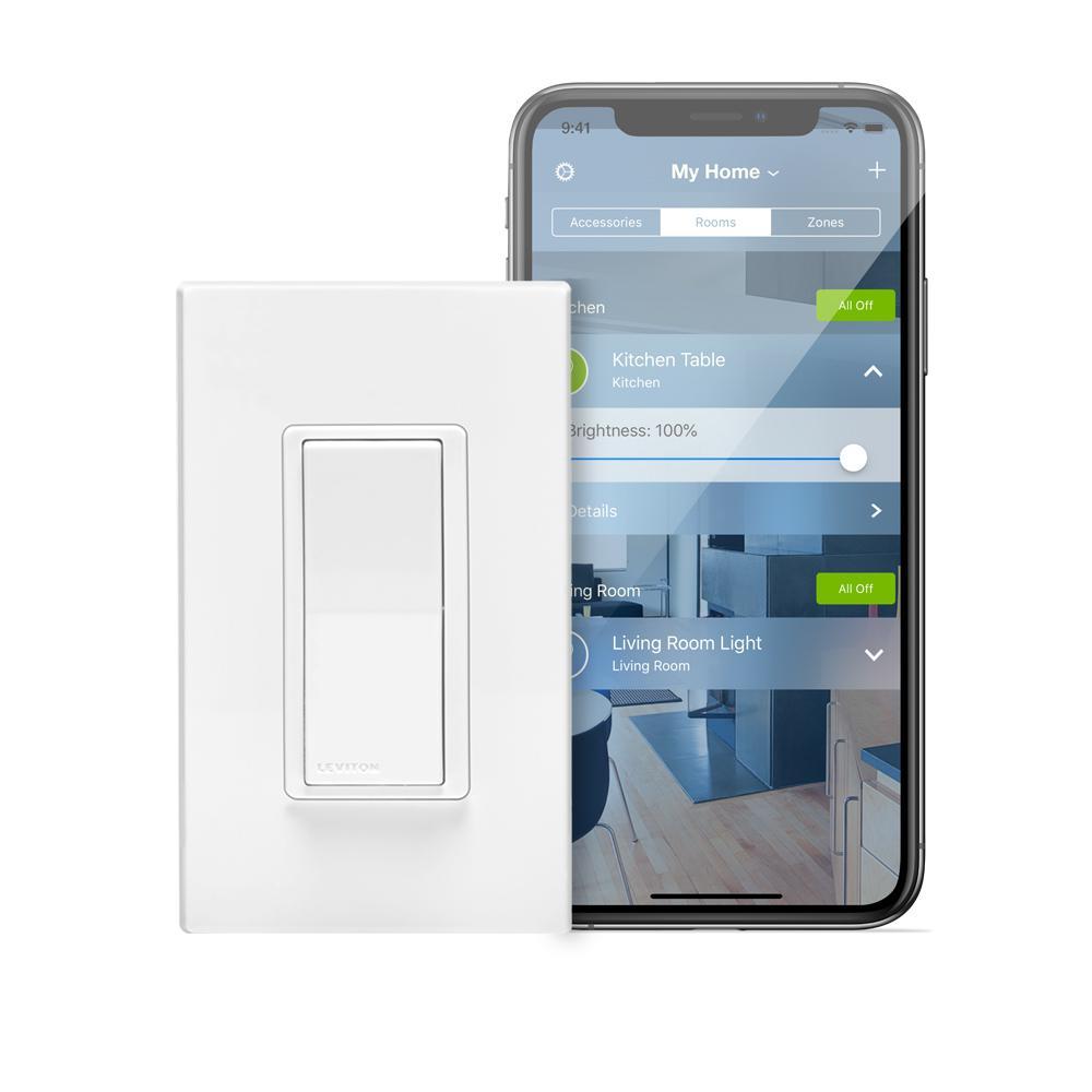15 Amp Decora Smart with HomeKit Technology Switch, Works with Siri