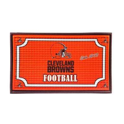 Cleveland Browns 18 in. x 30 in. Embossed Welcome Mat