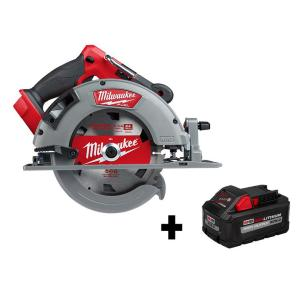 Milwaukee M18 Fuel 18-Volt Lithium-Ion Brushless Cordless Circular Saw + Milwaukee M18 18-Volt Lithium-Ion HIGH OUTPUT XC 8.0 A