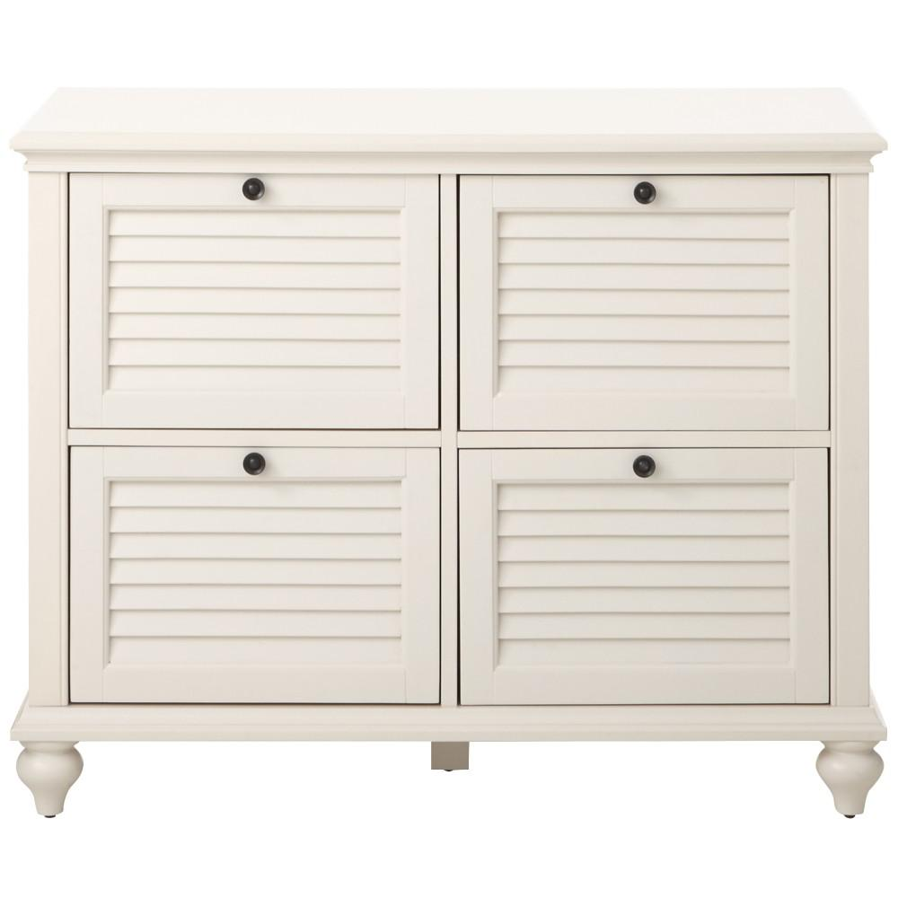 Home Decorators Collection Hamilton 4 Drawer Polar White File Cabinet 9786800410 The Home Depot