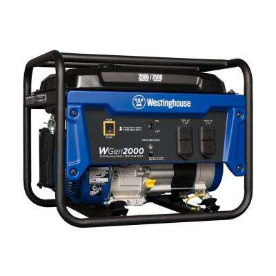 WGen 2,000/2,500-Watt Gas Powered Portable Generator