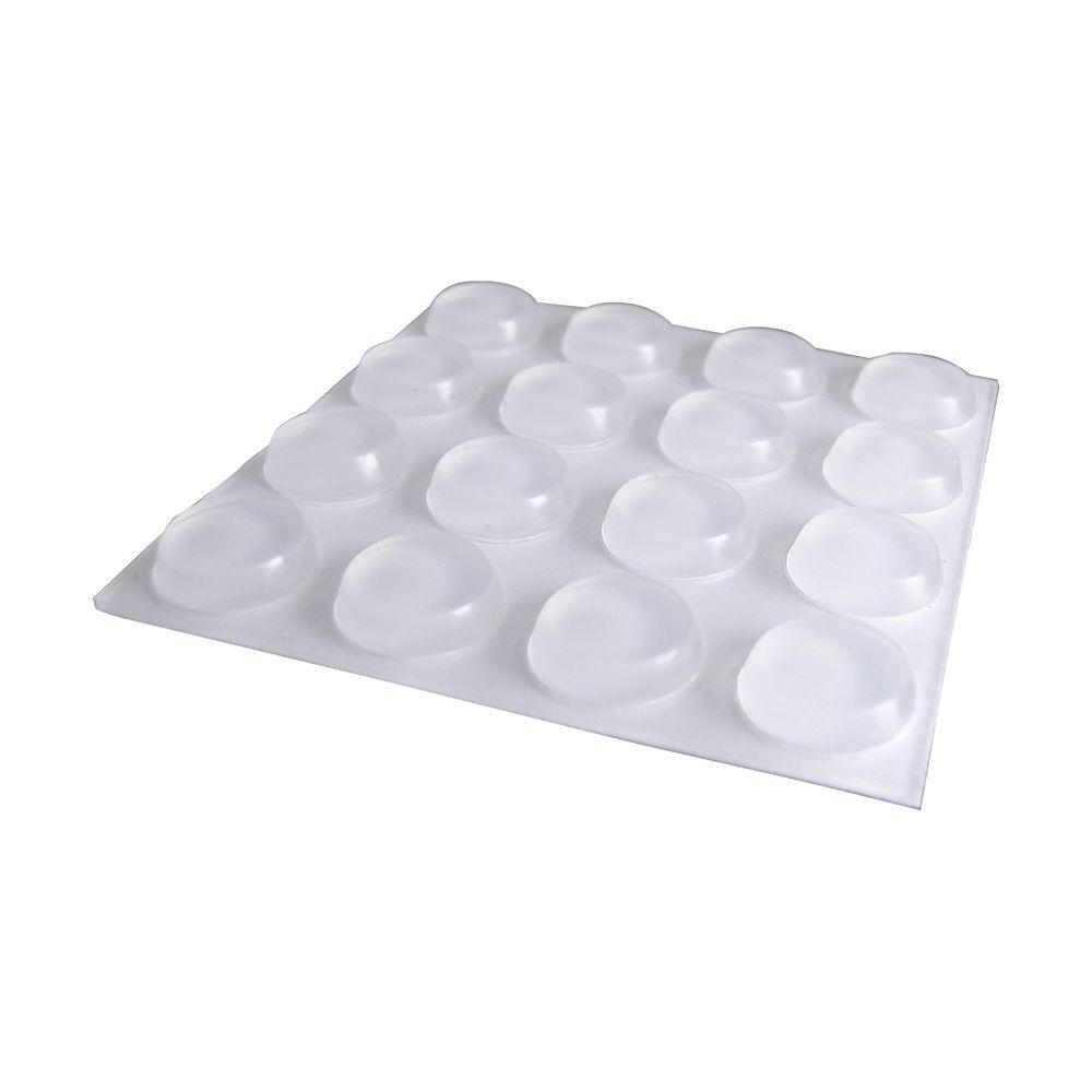 1/2 in. Self-Adhesive Clear Surface Bumpers (16 per Pack)