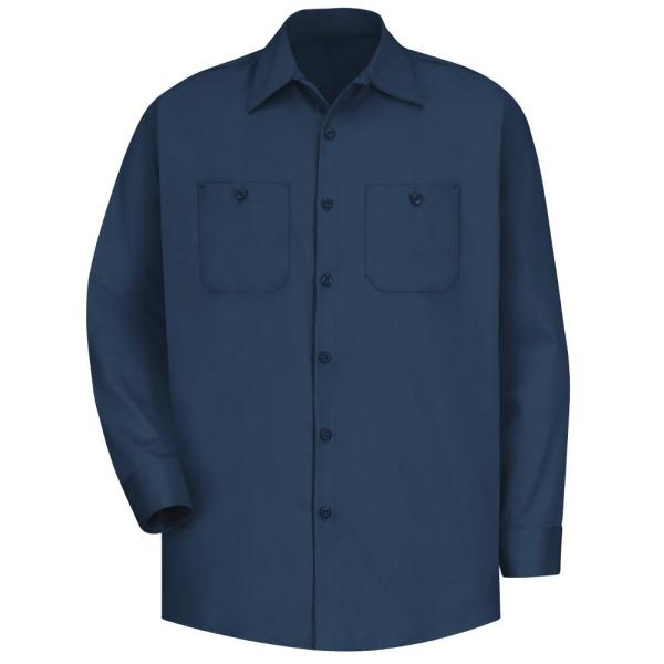 PACKS of 1 or 2 NEW Navy Work Shirt Short Sleeve 100/% Cotton Industrial Uniform