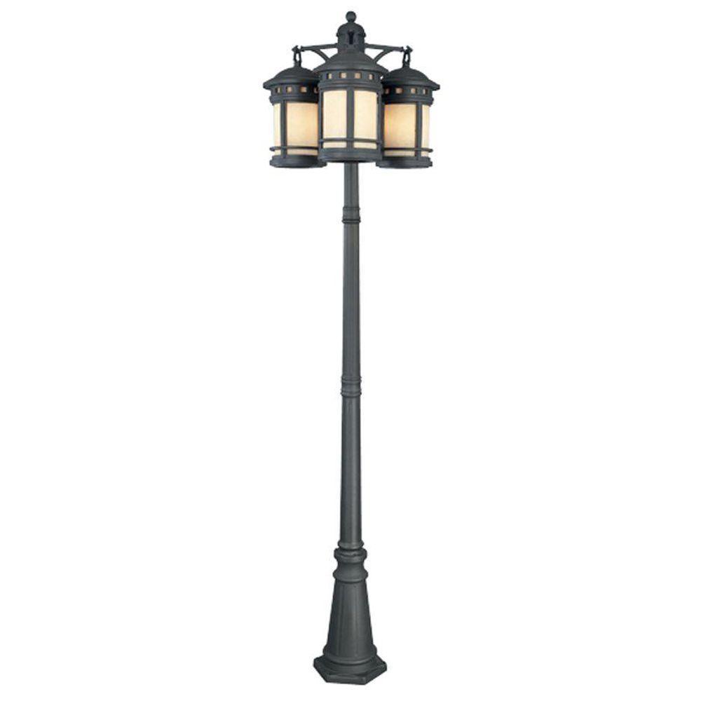 Sedona 9-Light 3-Head Oil Rubbed Bronze Outdoor Post Lantern
