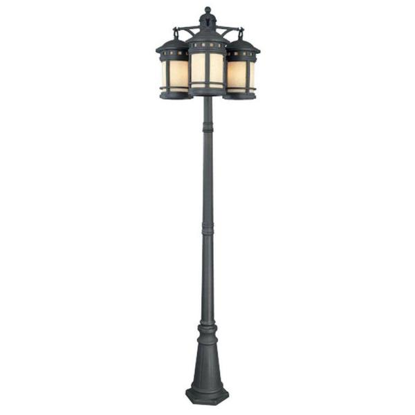 Sedona 9-Light 3-Head Oil Rubbed Bronze Outdoor Post Lantern