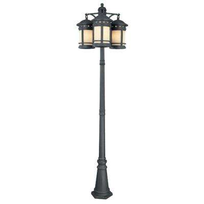 Mesa 9-Light 3-Head Oil Rubbed Bronze Outdoor Post Lantern
