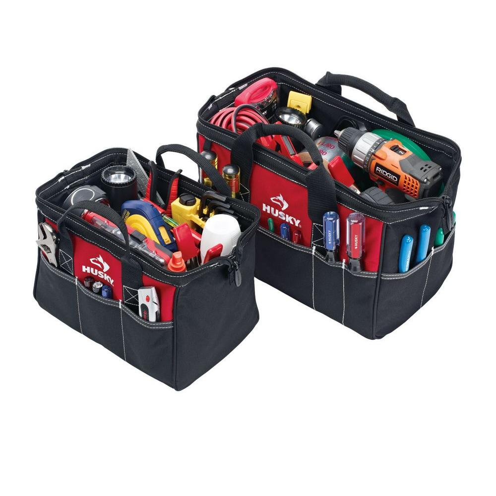 Husky 15 In Tool Bag With Bonus 12 In Tool Bag 82035n12