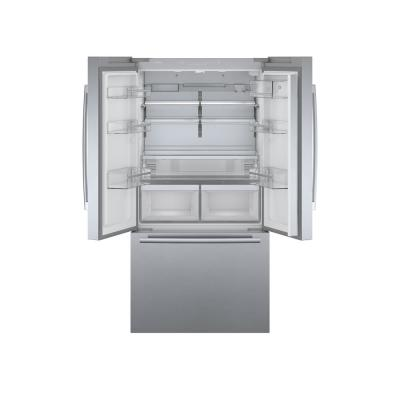 800 Series 36 in. 21 cu. ft. French 3 Door Refrigerator in Stainless Steel with Dual Compressor, Counter-Depth