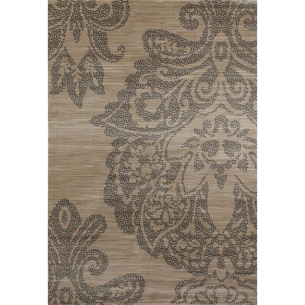Carved Damask Rug: Ottomanson Ottohome Collection Contemporary Damask Design