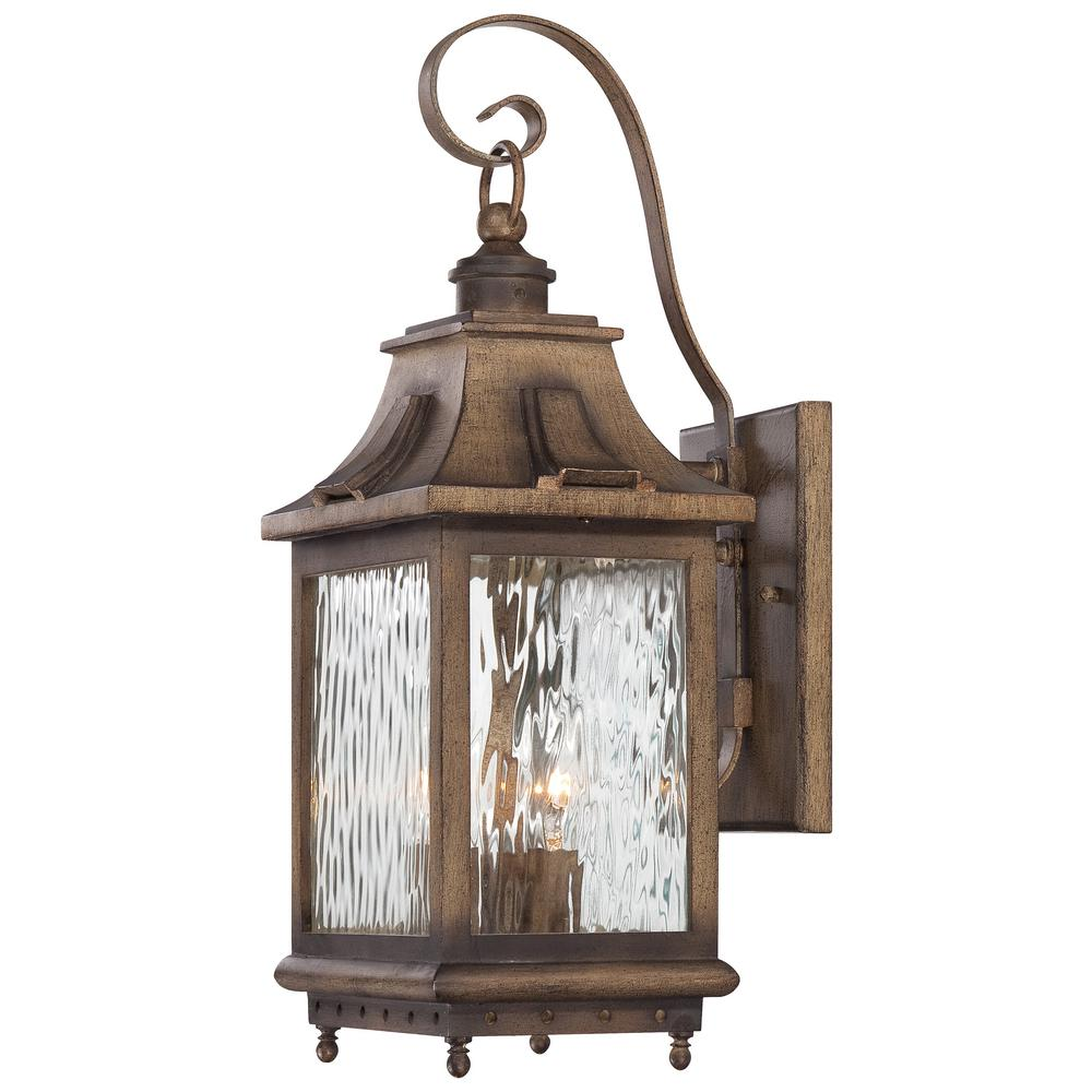 The Great Outdoors By Minka Lavery Wilshire Park 3 Light Portsmouth Bronze Outdoor Wall Lantern Sconce