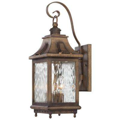 Wilshire Park 3-Light Portsmouth Bronze Outdoor Wall Lantern Sconce