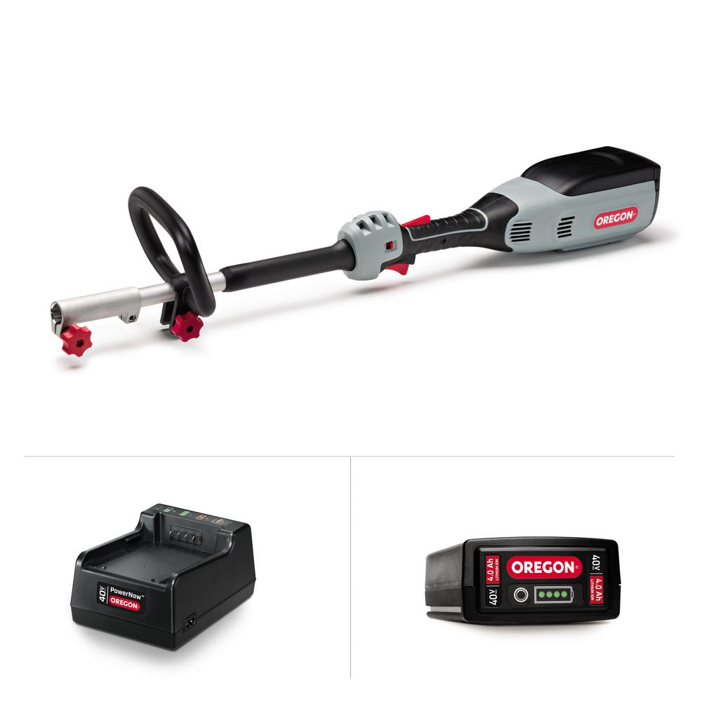 Oregon Cordless Multi-Attachment Powerhead A6 Kit with 4.0Ah Battery and Standard Charger (No Attachments)